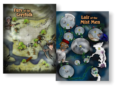 Lair of the Mist Men Maps