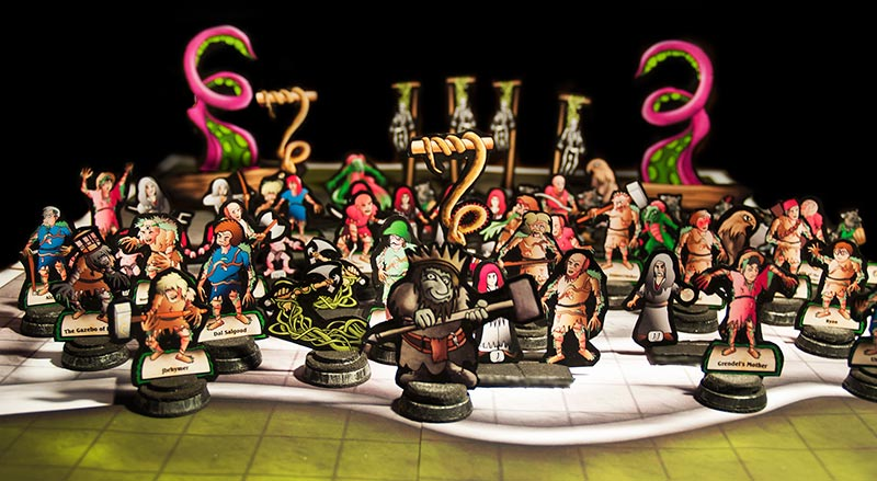 photo relating to Printable Paper Miniatures titled Pink Sorcerer Video games: Paper Miniature Suggestions